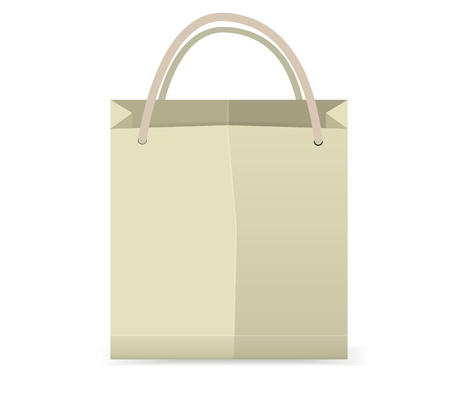 Shopping Bag Vector ,You can add Text or symbol on Blank Space Illustration