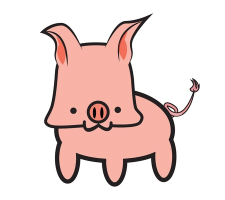 Pink Pig Graphic Vector