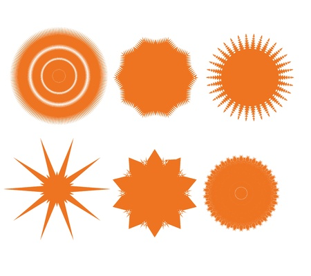 Design elements set  Abstract icons  art  Orange Stock Vector - 17280728