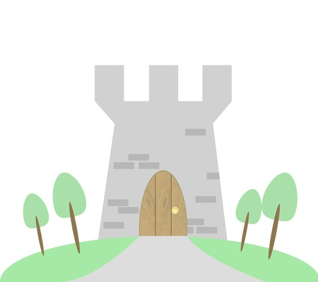 Medieval Tower illustration graphic Vector