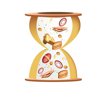 Candy Hour glass clock