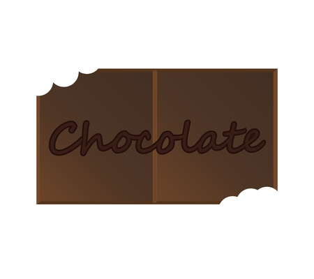 missing bite: Chocolate bite missing