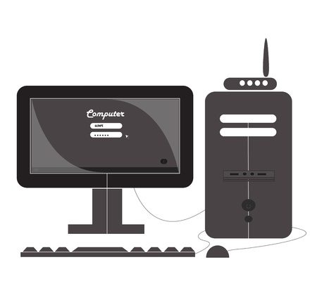 Black Modern Computer graphic   Vector