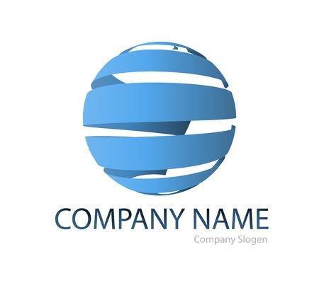 Business-logo globaal grafisch