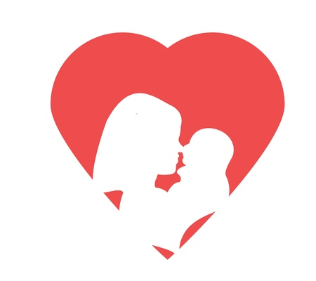 Love Mom Graphic Stock Vector - 17575836