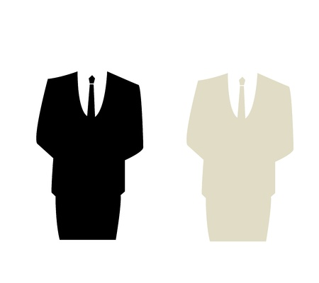man in suit graphic Stock Vector - 17575835