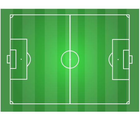 soccer field horizontal graphic   Illustration