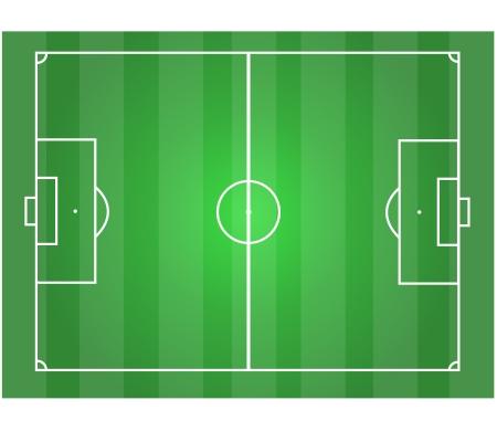 Terrain de soccer horizontale graphique Banque d'images - 17575839