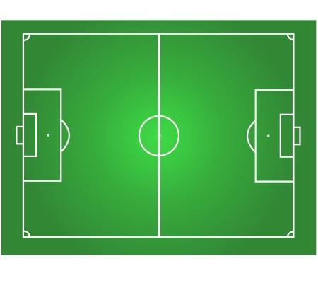 voetbalveld horizontale grafische