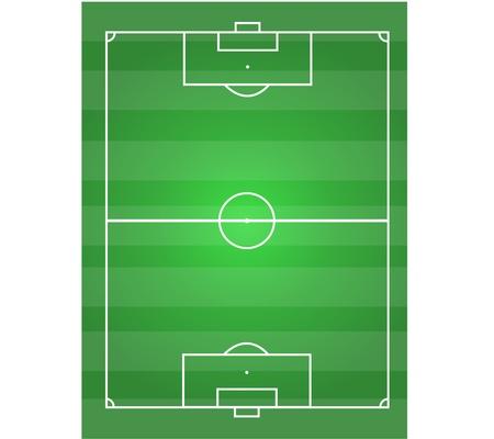 soccer field horizontal graphic  Stock Vector - 17575840