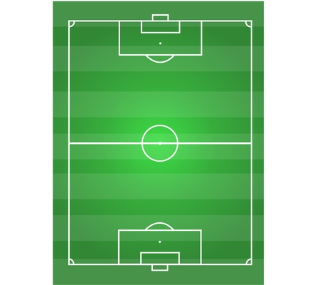 soccer field horizontal graphic Stock Vector - 17575840