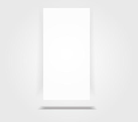 Paper vertical rectangle banner with drop shadow on floor Stock Vector - 17695010