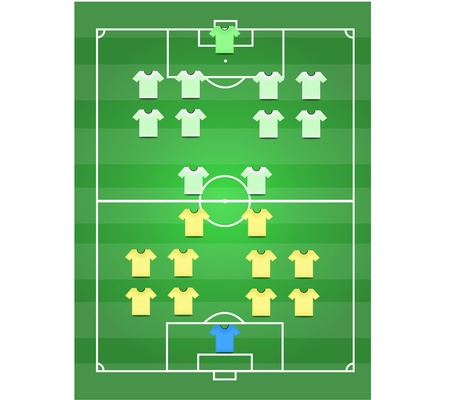 Soccer field and Footballer graphic Illustration