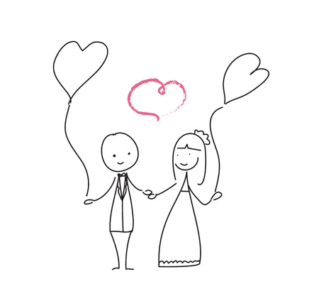 Wedding love doodle for graphic vector eps10 Illustration