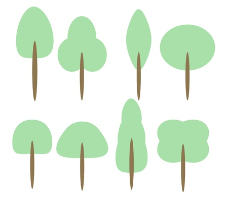 Set of Cartoon Trees graphic vector eps10 for use in kids artwork Stock Vector - 17813812