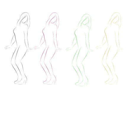 sexy girl dance: Sexy Girl Dance graphic vector eps 10 for party Illustration