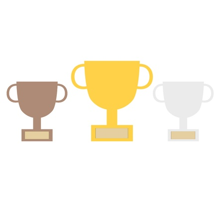 Champion Cup Graphic Icon Vector eps10 Stock Vector - 17813810