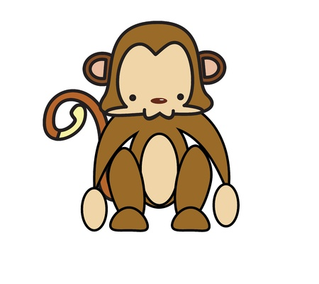 Baby monkey is a baby animal cartoon character vector eps10 Stock Vector - 17813809
