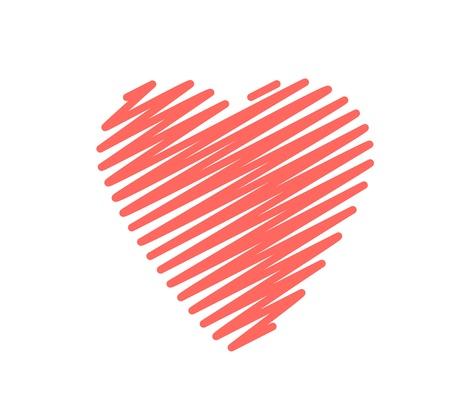 Scribble Heart Big Stroke graphic vector eps10 valentine Stock Vector - 17813817
