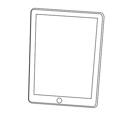 tablet pc computer ounline stroke graphic vector eps10 Stock Vector - 17813828