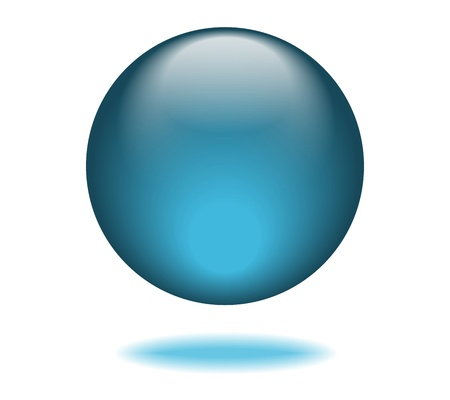 Blue Orb Graphic Illustration