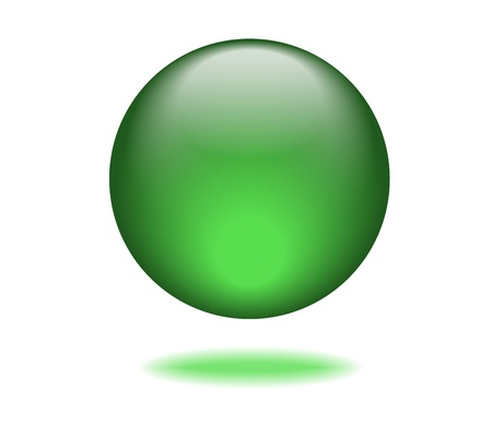 Green Orb Graphic Vector