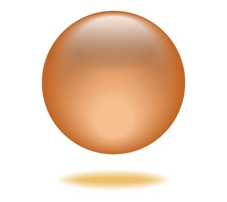 Orange Orb Graphic Vector