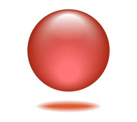 Red Orb Graphic Vector