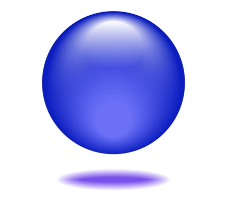 Royal blue Orb Graphic Stock Vector - 17997654