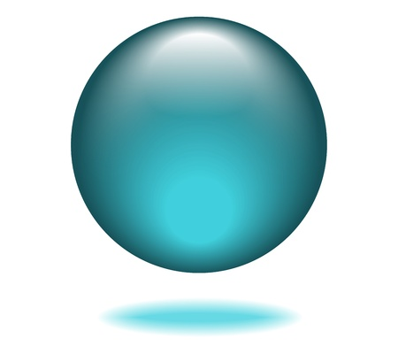 Turquoise Orb Graphic