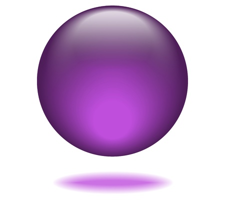 Violet Orb Graphic Vector