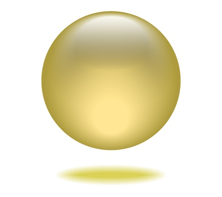 Yellow Orb Graphic Vector