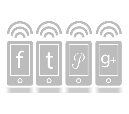 Social Media icon mobile online graphic