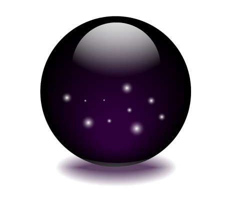 Sphere Orb graphic space art in  sphere Stock Vector - 17997650