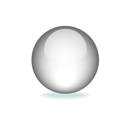 White Orb Graphic   Vector