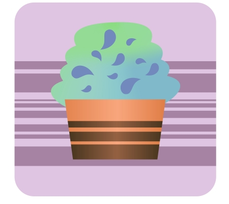This is cupcake   Stock Vector - 18053758
