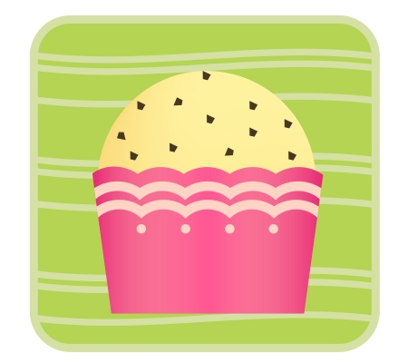 This is cupcake Stock Vector - 18053769