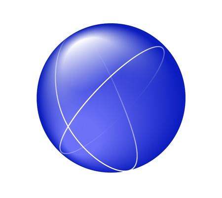 Blauw wereldwijde business koppeling Stock Illustratie