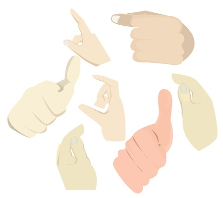 Hand Touch Action set collection vector eps10 Stock Vector - 18136965