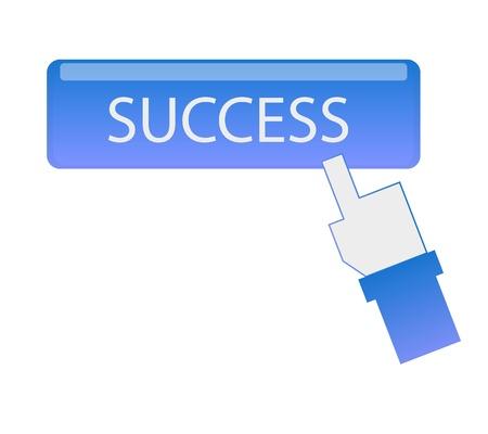 hand cursor click success button  graphic vector eps10 Stock Vector - 18199364