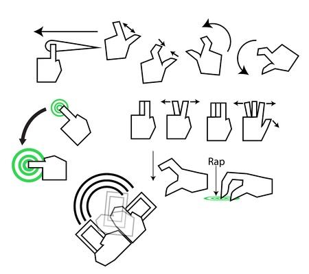 Tough Concept for interactive or user interface design graphic Stock Vector - 18214348