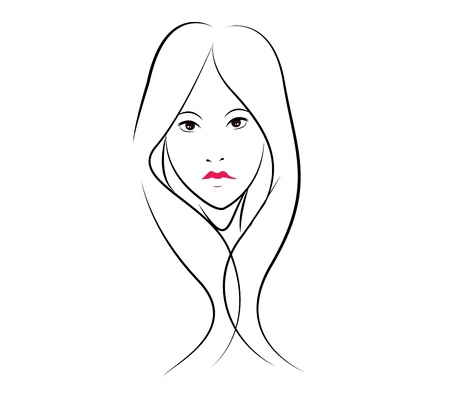 beauty girl face graphic vector eps10