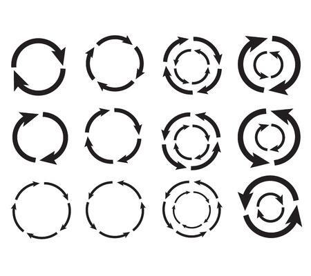 Arrow cirkel grafisch ontwerp vector eps10 Stock Illustratie
