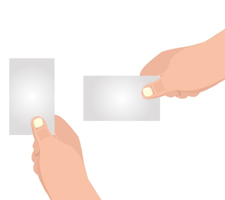 Hand with blank card graphic Stock Vector - 18336038