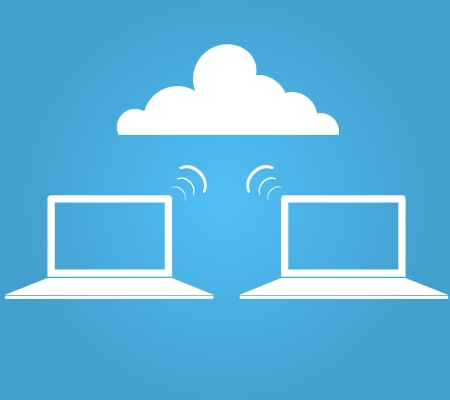 Wireless cloud graphic  Illustration