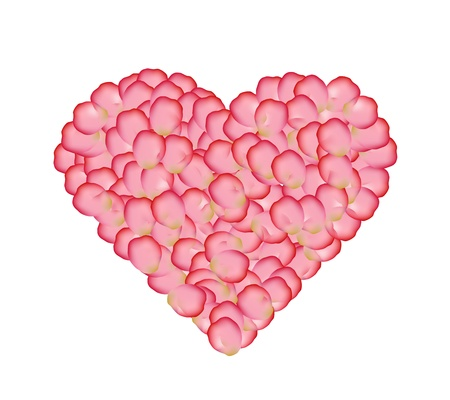 Rose heart graphic  Vector