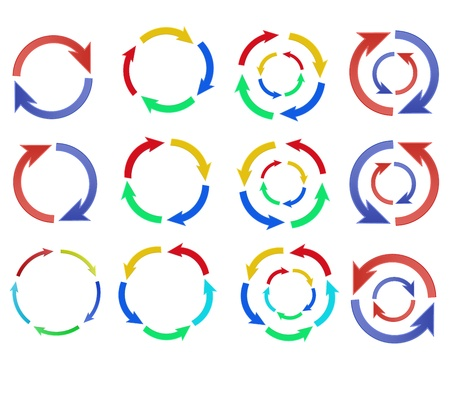 Color Arrow circle graphic vector eps10