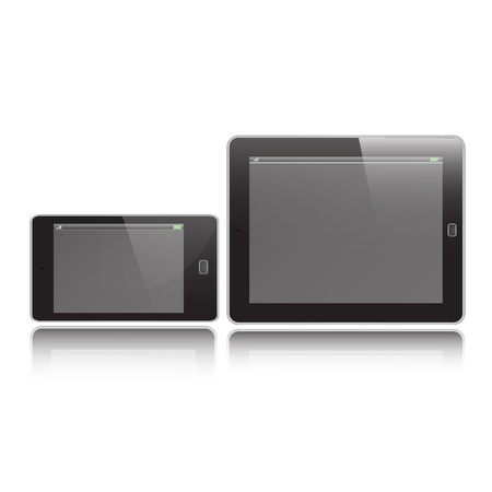 ็Horizontal Tablet and Mobile graphic vector eps10 Vector