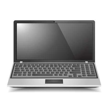 Laptop Computer grafische vectoreps10 Stock Illustratie