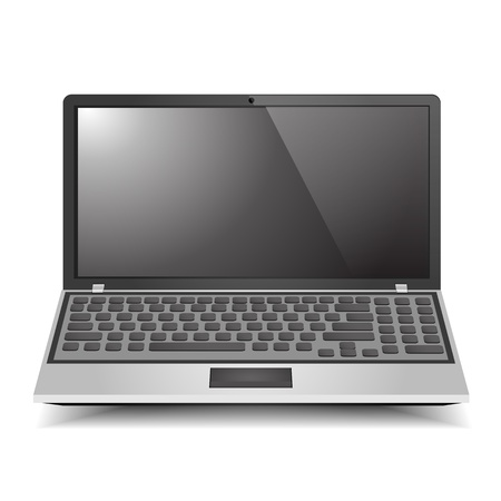 pc icon: Laptop Computer graphic vector eps10